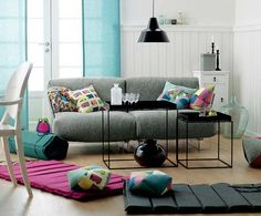 Love the use of colour and print to make the room pop and give it some personality