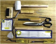 "DIY: tools for upholstery projects. I wish I'd seen this *before* I started on my chair. It would have saved a lot of, ""Oh. I need that, too?"" sighings at midnight."