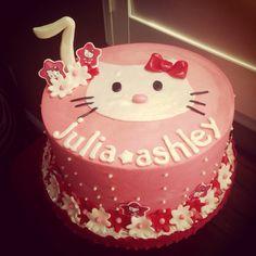 Hello Kitty themed Happy Birthday Cake
