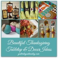 Thanksgiving Tabletop Ideas #tabletop #falldecor #thanksgiving