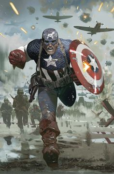 Captain America stormin' the beaches. Isn't this great?
