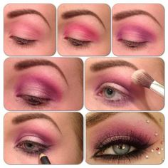 Step-by-Step #Tutorial for Pink Smokey Look on @Makeupbee