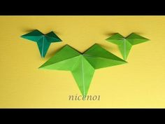 Origami Leaves, Origami Tutorial, Origami Art, Paper Decorations, Diy Party, Bamboo, Diy Crafts, Rock, Youtube