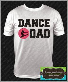 Proud Mom w/ rhinestones & Dad Dance Tshirt