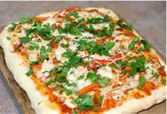 Thai Chicken Pizza, peanut butter, healthy, cheese
