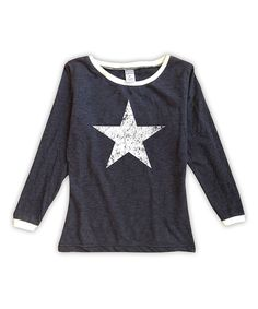 Charcoal Weathered Star Tee - Toddler & Girls