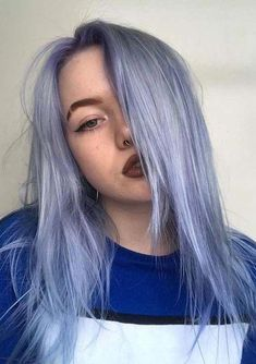 Blue Wigs Lace Hair Lace Frontal Wigs Blue And Purple Ombre Hair Shampoo For Blue Black Hair Blonde Bob Wig With Dark Roots Pastel Lavender Hair, Lilac Hair, Ombre Hair, Balayage Hair, Lavender Color, Hair Color Dark, Cool Hair Color, Dark Hair, White Hair