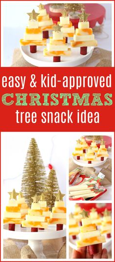 christmas snacks Easy Christmas Tree Snack Idea for Kids - perfect holiday themed snacks for little hands, great for play dates amp; via raisingwhasians (AD) Christmas Party Snacks, Xmas Food, Snacks Für Party, Christmas Goodies, Holiday Treats, Christmas Baking, Kids Christmas, Holiday Recipes, Party Appetizers