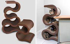 Curvynest Modern Cat Tree - http://www.woofcenter.com/Woof_Center/CurvyNest_Cart.html