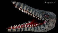 Mosasaurus paleoart Sculpture, Animales