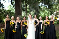 Black bridesmaids dresses have a bigger impact on your wedding than you thought. Black bridesmaid dresses for a wedding is classic and heavenly. Coral Colored Bridesmaid Dresses, Black Bridesmaids, Bridesmaid Dresses Plus Size, Wedding Bridesmaid Dresses, Tulle Wedding, Coral Dress, Dress Wedding, Wedding Bouquets, Maid Of Honor Dress Long
