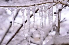 Icicles at Castle Bluff!