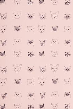 ++ via design sponge wallpaper gatos, dog wallpaper, cat pattern wallpaper, iphone Pattern Illustration, Art And Illustration, Illustrations, Cats Wallpaper, Iphone Wallpaper, Cat Pattern Wallpaper, Motifs Textiles, Textile Patterns, Loom Patterns