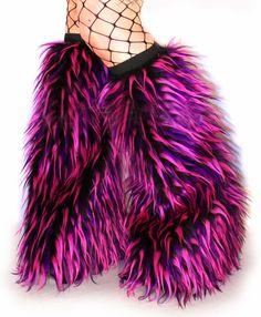 ad3882e32ffa4 Furry Leg Warmers, Derby Attire, Cybergoth, Vinyl Dolls, Rave Outfits, Pink