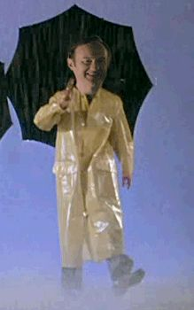 Mycroft singing in the rain!!!
