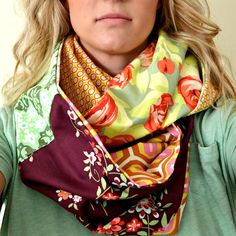 Bellapia Designs: Cowl Scarf- use up those fat quarters!