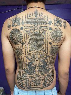 Sak Yant Tattoo, Thai Tattoo, Tattoo Designs, Tattoos, Thailand Tattoo, Tatuajes, Tattoo, Tattooed Guys, Tattoo Patterns