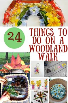 24 Things for kids to do with Nature on a Woodland Walk