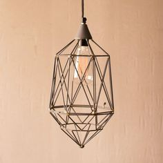 Live Wire Pendant—Small - Industrial concept
