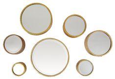 7-Piece Margo Round Medium Wall Mirror Set