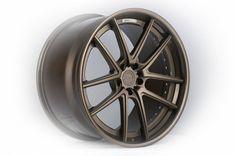 ADV 5.0SL Super light 3 Piece Forged Wheel Matte Bronze Textured face Gloss bronze step lip