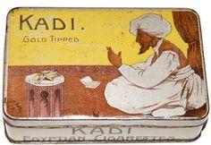 KADI Egyptian Cigarettes Tin / Blechdose