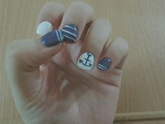 Cute summer nails 😄💙🌊 #summer #summernails #nails #naildesign #summernails #nailinspiration
