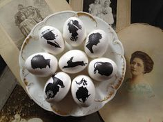 *Jennuine by Rook No. 17*: Easy Silhouette Easter Eggs