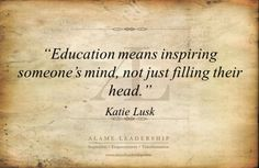 AL Inspiring Quote on Education