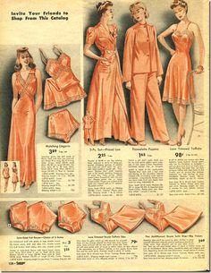 Women S Fashion Designer Labels - Nightwear 🌃 Vintage Underwear, Vintage Lingerie, Lingerie Pics, Fashion Lingerie, Satin Lingerie, Moda Vintage, Vintage Sewing, Vintage Ads, Vintage Patterns