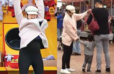 Five-month pregnant Aimee Chan and husband, Moses Chan, took their son to a carnival game on their day off.