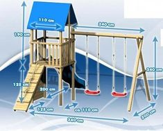 Ready to Build a Playhouse on Stilts? Kids Backyard Playground, Playground Set, Backyard For Kids, Backyard Playhouse, Build A Playhouse, Kids Outdoor Play, Kids Play Area, Swing Set Plans, Kids House