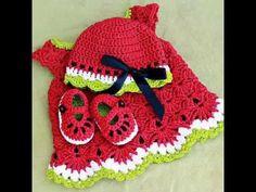 Strawberry crochet set for baby