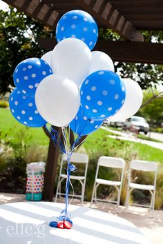 Cookie Monster birthday bash/ use white bingo doper to make dots on blue balloons. Monster First Birthday, Monster 1st Birthdays, Monster Birthday Parties, Baby 1st Birthday, 1st Boy Birthday, First Birthday Parties, Birthday Party Themes, First Birthdays, Birthday Ideas