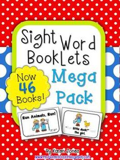 45+ printable SIGHT WORD Books for the whole school year! These are perfect practice for take home book bags. $