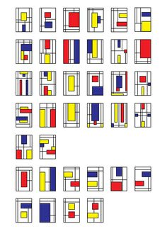 De Stijl Typo Poster A school project which is a type-based poster that inspired by De Stijl art movement. Piet Mondrian, Mondrian Kunst, Mondrian Dress, Event Poster Design, Typography Design, Lettering, Typo Poster, Art Deco, Creative Advertising