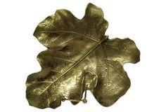 Midcentury Brass Fig Leaf