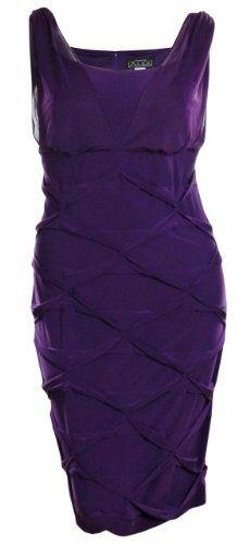 Fashion Bug Diamond Pleat Jersey #Cocktail Plus Size #Dress