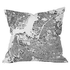 Printed Brooklyn pillow. Made in the USA. 2 sizes starting at $23.95. Joss & Main.
