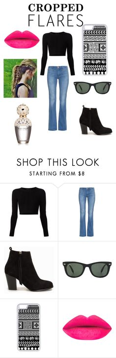 """""""my crop top style"""" by ashfur123 on Polyvore featuring Cushnie Et Ochs, MiH, Nly Shoes, Ray-Ban, CellPowerCases, Marc Jacobs, women's clothing, women's fashion, women and female"""