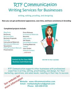 Writing services business