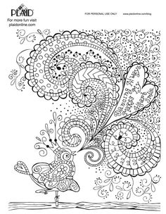 4 Free Adult Coloring Book Page Printables! Color them and mod podge them onto your favorite items!