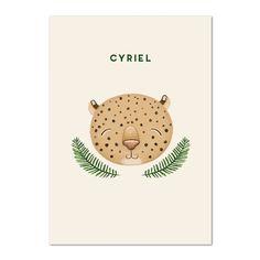 Cyriel   lotteleyssens  #birthannouncement #birth #babyboy #leopard #illustration #illustratie #graphic design #graphicillustration #geboortekaartjeontwerp #illustrationartist #luipaard Design