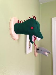 Chupacabra Wall Mounted Head Vegan Nursery by missnessamonster