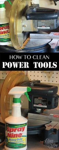 Tips and tricks to keeping your power tools clean and functioning.  Prolong the life of your tools and make sure they function without any trouble.