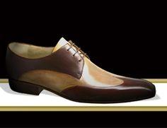 b5b6040fd51e6c Derville Derby Hélène patine bi-couleurs marron glacé / crème #chaussures  #souliers #