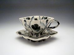 Cup & Saucer • Andrew Martin. Slipcast but gorgeous.