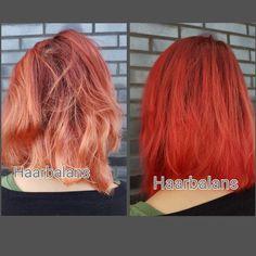 Prachtige opgefriste rode haarkleur gewassen met Jean Paul Myne, Paprika