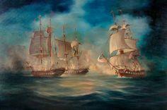 .:. Καλογερόπουλος Λέων – Leon Kalogeropoulos [1928-2002]  Sea battle