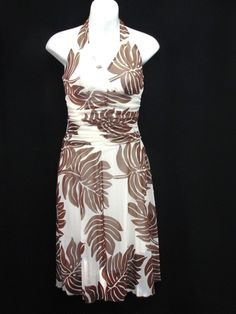 PRICE  $24.99 . Speechless Halter Sleeveless Dress Brown Cream Silky Palm Leaf Polyester Lined S #Speechless #Sundress #Casual ..... We are TOP RATED * POWER Sellers on EBAY * Selling WORLDWIDE. Visit us at our EBAY STORE * 4COOLSTUFF2BUY with any questions or items for sale.C039
